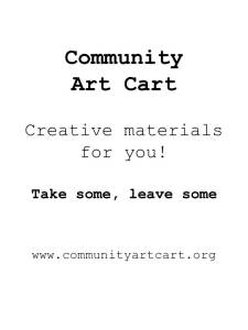 art cart sign